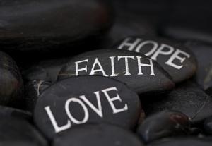 FAITH HOPE LOVE stones